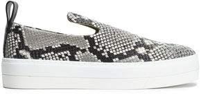 By Malene Birger Snake-Effect Leather Slip-On Sneakers