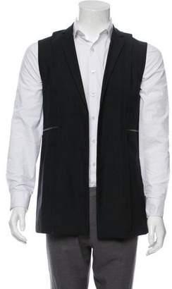 Giuliano Fujiwara Wool Zipper-Accented Vest