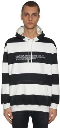Calvin Klein Established 1978 STRIPED LOGO PRINT SWEATSHIRT HOODIE