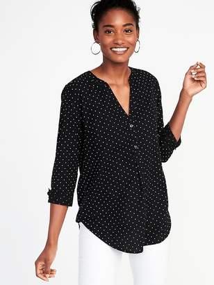 Old Navy Lightweight Polka-Dot Popover Shirt for Women