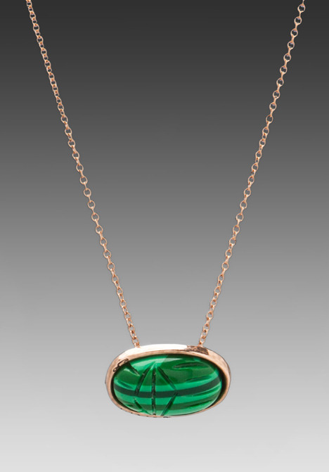 House Of Harlow Scared Scarab Pendant Necklace