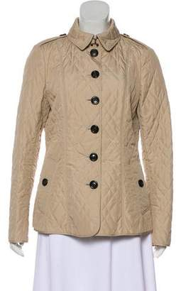 Burberry Smoked Check-Lined Quilted Jacket