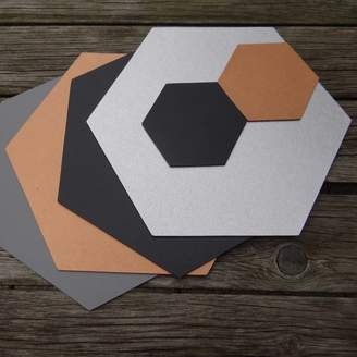 Artbox Hexagon Leather Placemat