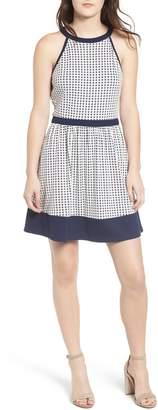Speechless Knit Dot Skater Dress