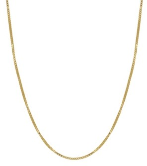 """Macy's Box Link 18"""" Chain Necklace (0.5mm) in 18k Gold"""