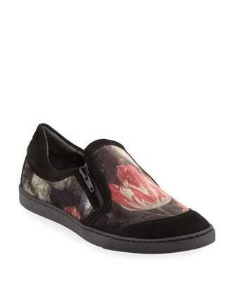 Sesto Meucci Frida Novel Floral-Print Velvet Sneakers