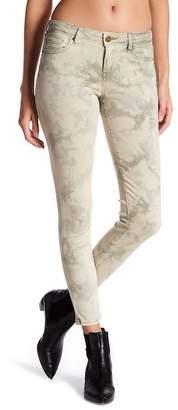 William Rast Tie-Dye Cropped Skinny Ankle Jeans