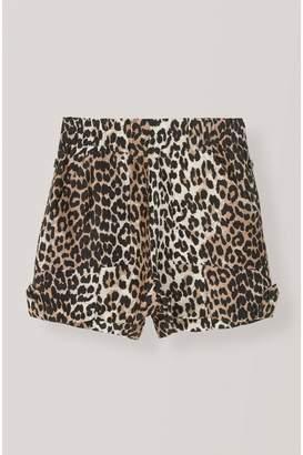 Ganni Silk Linen Shorts