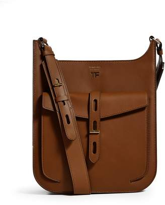 Tom Ford Leather T Twist Hobo Shoulder Bag