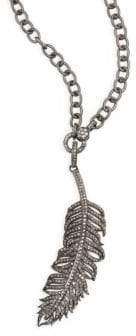 "Nina Gilin Feather Pendant Necklace/36"""