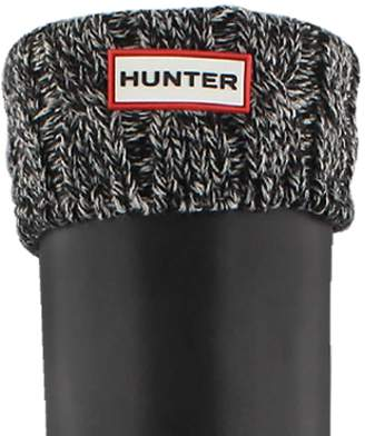 Hunter 6 Stitch Cable Boot Sock M Black/Grey