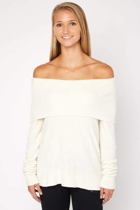 Neely Off The Shoulder Baby Chenille Tunic