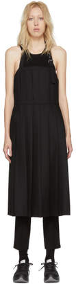 Noir Kei Ninomiya Black Wool Pleated Apron Dress