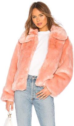 Pam & Gela Boxy Faux Fur Coat