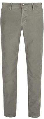 Incotex Slim Fit Cotton Twill Chino Trousers - Mens - Light Grey