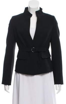 Celine Belted Wool Blazer