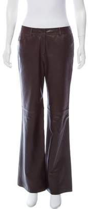 Lafayette 148 Mid-Rise Leather Pants
