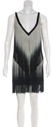 Foley + Corinna Fringe Mini Dress