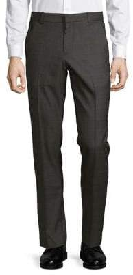 Perry Ellis Slim-Fit Windowpane Dress Pants