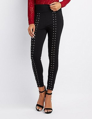 Lace-Up High-Rise Leggings $22.99 thestylecure.com