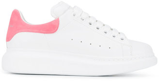 Alexander McQueen White Pink Platform Sneakers $575 thestylecure.com