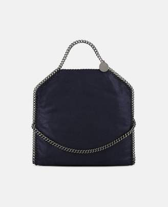Stella McCartney Navy Falabella Shaggy Deer Fold Over Tote, Women's, Size OneSize