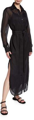 Victoria Beckham Victoria Sheer Long Shirtdress