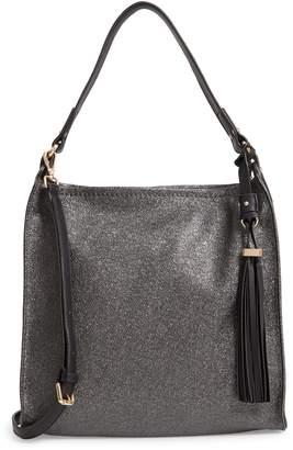 Sondra Roberts Metallic Faux Leather Convertible Hobo