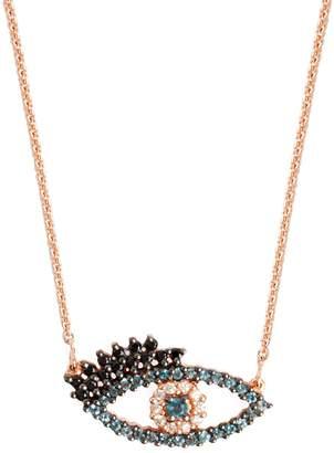 Lola Rose London - Eye Charm Necklace London Blue Topaz & Black Spinel