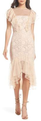Cooper St Rosie Ruffle Lace Midi Dress