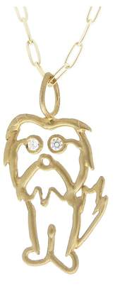 Ten Thousand Things Eddie' Charm in Yellow Gold with Diamond Eyes