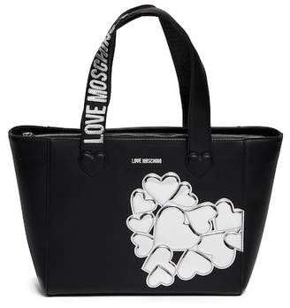 Love Moschino Metallic Hearts PU Leather Tote