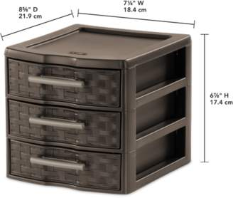 Sterilite Small Weave 3 Drawer Unit, Epsresso (Available in Case of 6 or Single Unit)