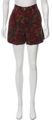 Halston High-Rise Mini Shorts