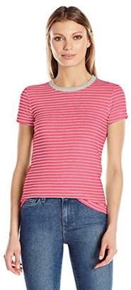 Three Dots Women's Stripe S/s Crewneck