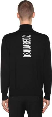 DSQUARED2 Logo Wool Jacquard Turtleneck