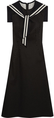 Dolce & Gabbana - Crystal-embellished Polka-dot Cotton-blend Twill Dress - Black $2,695 thestylecure.com
