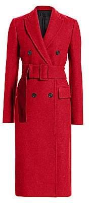 Helmut Lang Women's Double-Breasted Wool-Blend Coat