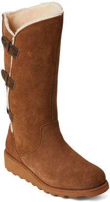 BearPaw Hickory Hayden Real Fur Tall Wedge Boots