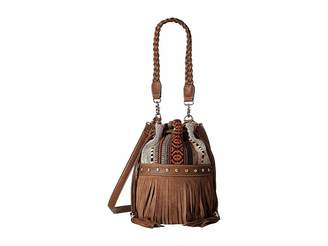 M&F Western Saddle Blanket Fringe Bucket Bag