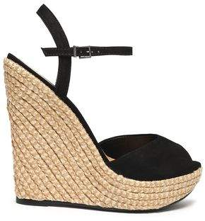 Schutz Suede Espadrille Wedge Sandals