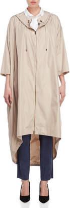 Lamberto Losani Packable Hooded Longline Jacket