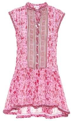 Poupette St Barth Honey printed cotton minidress