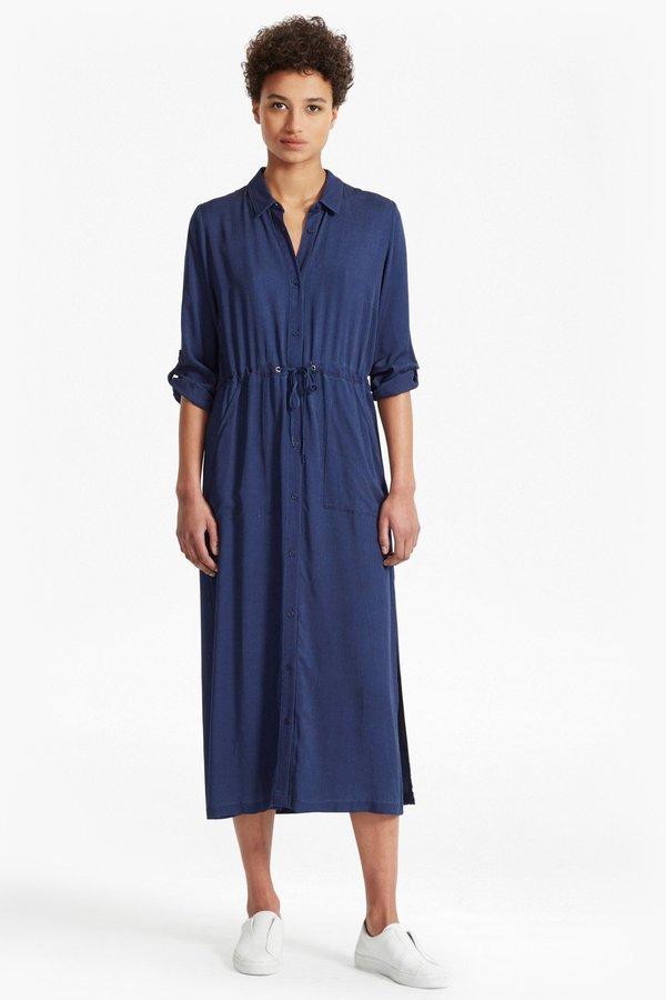 $178.00 $119.99. Altman V Solid Maxi Shirt Dress