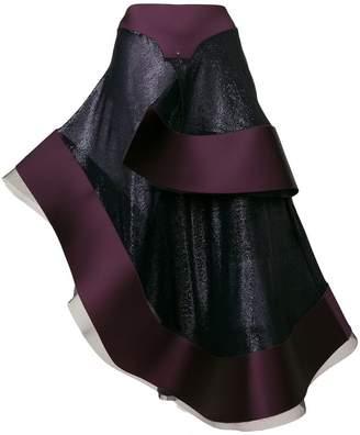 Esteban Cortazar asymmetric flamenco skirt