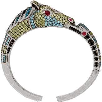 Judith Ripka Sterling Silver Gemstone Heather Horse Cuff, 9.00 cttw
