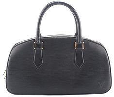 Louis VuittonLouis Vuitton Black Epi Leather Gold Tone Jasmin Satchel Handbag BY4193 MHL