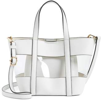 b69891b96e ... clear Emperia Panel Mini Faux Leather Tote