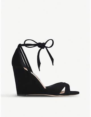 LK Bennett Henrietta suede wedge sandals