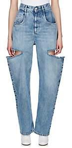 Maison Margiela Women's Cutout Bootcut Jeans - Blue